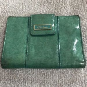 Cole Haan wallet in teal green